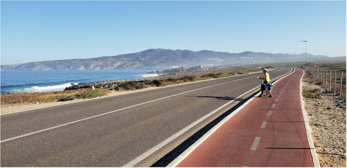 The bike path north of Cascais. A more mountainous area is coming soon as  we ride north. cca39cb32